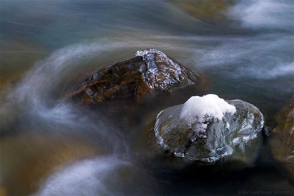 chilliwack river rocks in winter