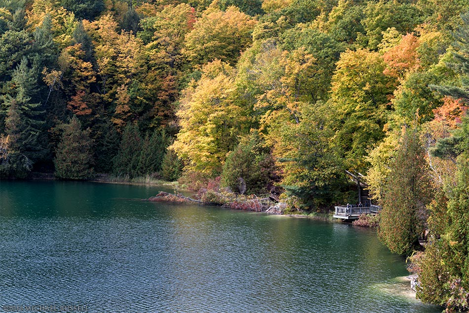 fall foliage at pink lake in gatineau park