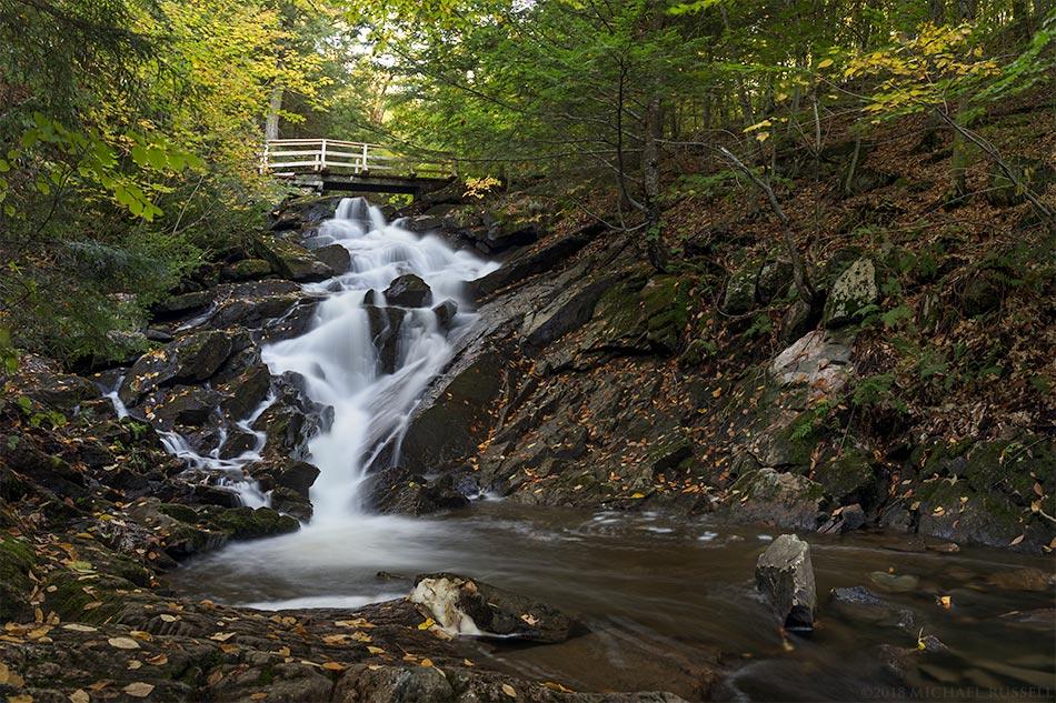 dunlop falls in gatineau park
