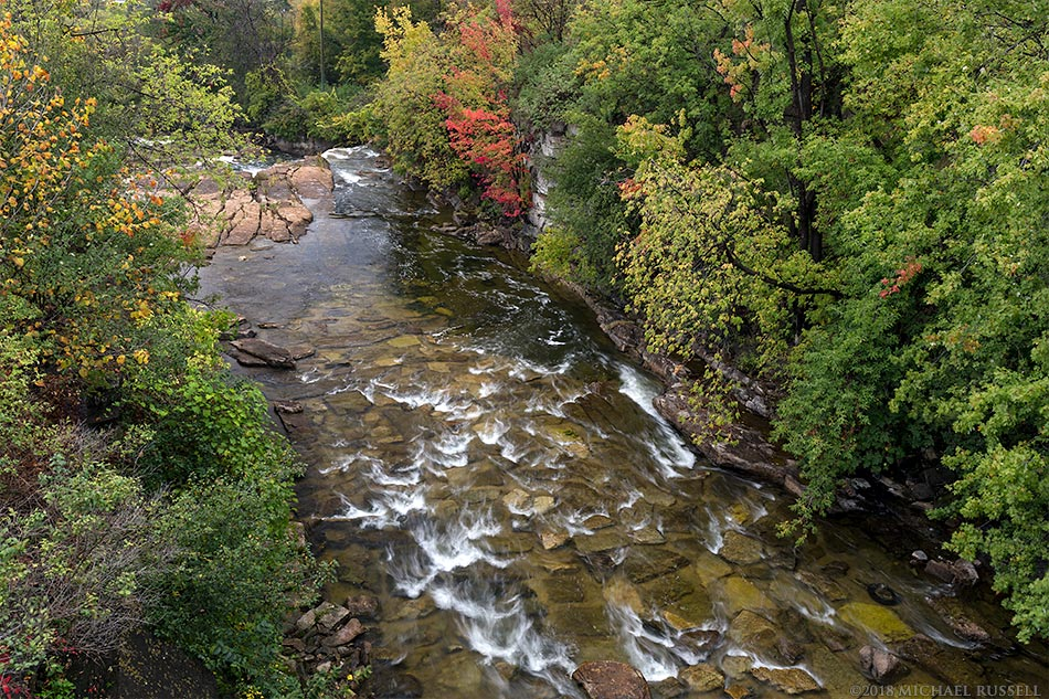 mississippi river in almonte ontario fall leaves
