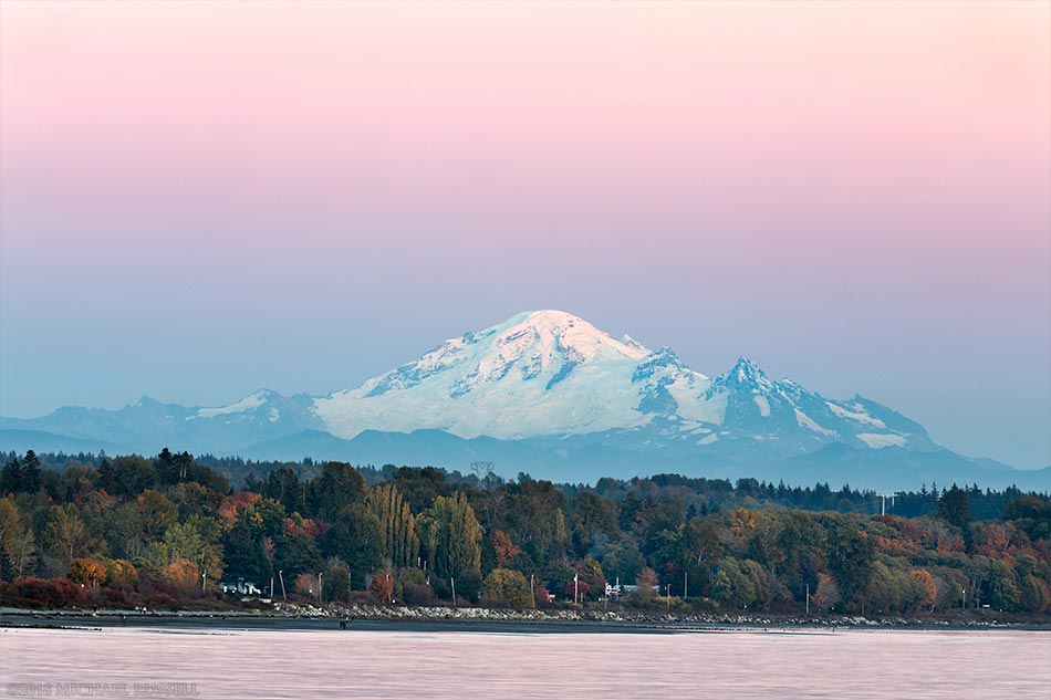 view of mount baker from white rock pier