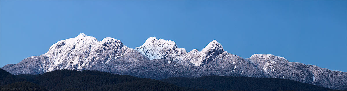 golden ears blanshard peak blue hour panorama