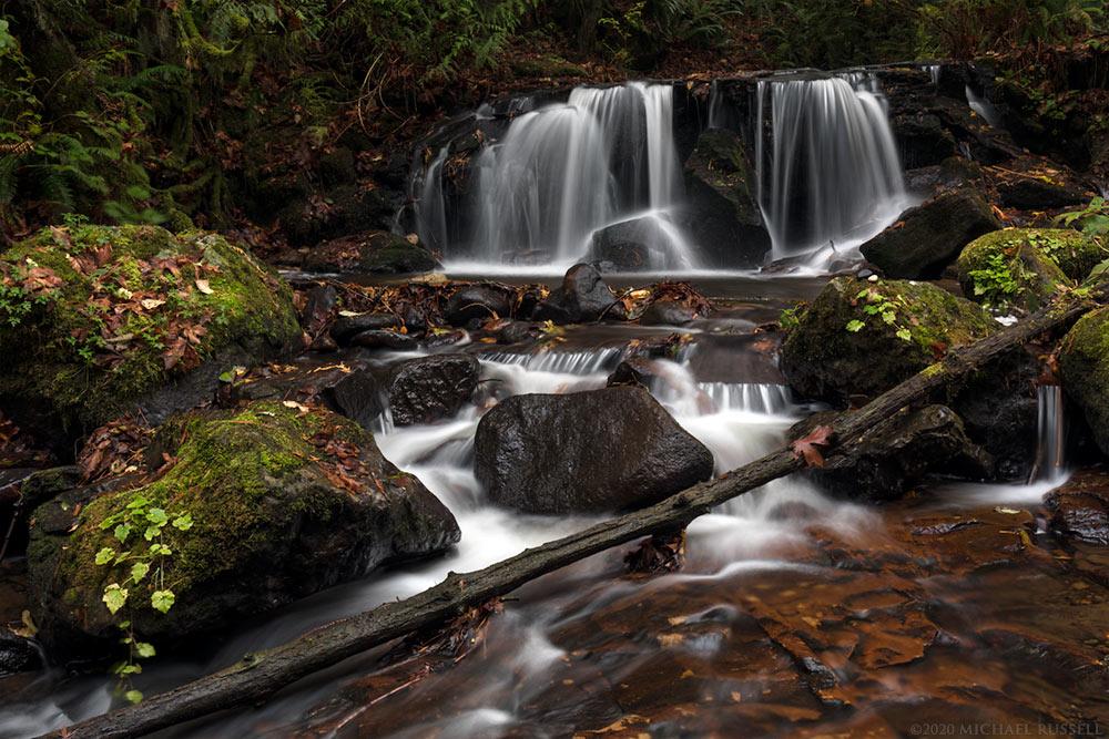 waterfall on sumas mountain in abbotsford british columbia